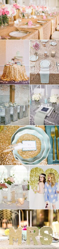 All that glitters is among the top wedding trends now, especially for those of you who love sparkly ideas. There are lots of different ways to incorporate glittery glam wisely.  Check out these lovely ideas and get ready to shine!