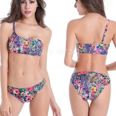 7b18984d6287 Plavky Shoulder Bikinis Women 2017 Brazilian Tanga Bikini bandeau swimsuit  Thong Swimsuit Push Up Swimwear Women 2017 Bikini Set
