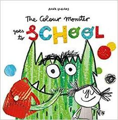 The Colour Monster goes to School by Anna Llenas Monster Go, Monster Party, Anna, Pop Up, Movie Inside Out, Kindergarten, School Reviews, Grande Section, Different Emotions