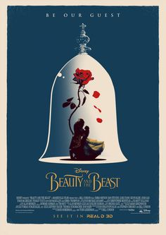 """""""Disney hired me to make this Beauty And The Beast poster. Deco Disney, Art Disney, Disney Love, Disney Magic, Beauty And The Beast Movie, Beauty And The Best, Images Wallpaper, Disney Wallpaper, Be Our Guest Disney"""