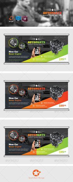 Auto Services Billboard Template #design #ads Download: http://graphicriver.net/item/auto-services-billboard-templates/7816621?ref=ksioks