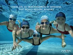 There are no benchwarmers in swimming. That would require benches. Swimming - The #FunnestSport there is!