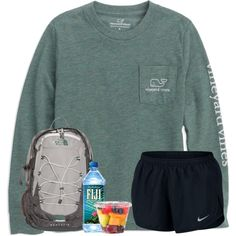 A fashion look from March 2018 featuring NIKE and The North Face backpacks. Browse and shop related looks. Cute Lazy Outfits, Summer Outfits For Teens, Cute Outfits For School, Simple Outfits, Trendy Outfits, Casual Sporty Outfits, Teenager Outfits, College Outfits, Jugend Mode Outfits