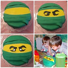 Creating a Ninjago cake
