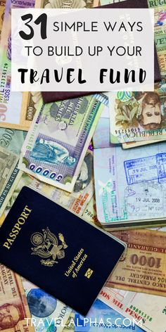 If you're looking for some amazing tips on how to save money to travel the world, then you've come to the right place. Here are 31 easy ways you can budget, save money, and build up your travel fund. These 31 money-saving tips and ideas will help you cut back on unnecessary expenses, find ways to make more money, and figure out how you can save more money -- all so that you can book your plane ticket and see the world! Happy saving!