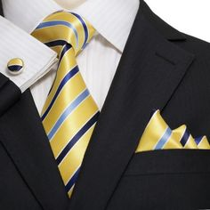 Yellow,Blue and Light Blue Necktie Set JPM18A05 – Toramon Necktie Company