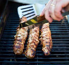 Grillad fläskfilé fylld med fetaost och fikonmarmelad | landleyskok.se | marmelad, fikon, grill, grilla, feta,