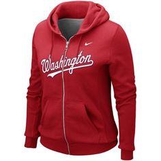 b85b331c5 Nike Washington Nationals Ladies Classic Full Zip Hoodie - Red -  FootballFanatics.com Red Sox