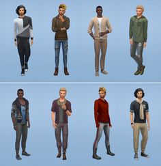 Netz-à-porter – outfits ready to wear for your sims (no CC required) - Page 12 Sims 4 Cas, My Sims, Sims Cc, Blessing Bags, Sims House Design, Sims Building, Sims 4 Characters, Sims Four, Sims 4 Clothing