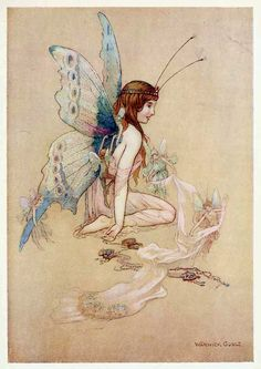"""The fairies came flying in at the window and brought her such a pretty pair of wings."" - Water Babies, A Fairy Tale for a Land Baby by Charles Kingsley, 1909"