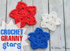 Crochet Granny Stars www.thestitchinmommy.com Freebie, thanks so for another great share xox