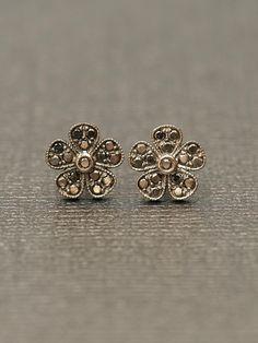 Colette 18k Mini Black Diamond Stud Earrings at London Jewelers!