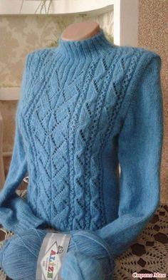"""Приветствую всех заглянувших!!! Предлагаю Вашему внимаю свитер """"Геометрия"""". По этой модели проходил он-лайн http://www.stranamam.ru/ (онлайнер Людмила) Спасибо огромное за он-лайн!!!"""