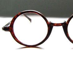 Vintage 80's Round Tortoise Eyeglass Frames.