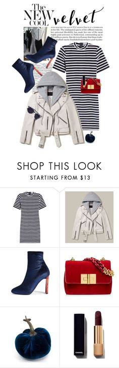 """""""Crushing on Velvet"""" by shortyluv718 ❤ liked on Polyvore featuring T By Alexander Wang, Roxy, AllSaints, Giuseppe Zanotti, Thierry Lasry and velvet"""