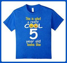 Kids 5th Birthday gift shirt A Really Cool 5 year old tshirt 6 Royal Blue - Birthday shirts (*Amazon Partner-Link)