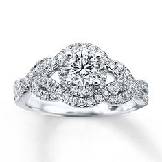 Previously Owned Ring 1 ct tw Diamonds 14K White Gold