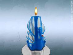 Nr.9 Geschnitzte Motiv Kerze.Schwan 12 cm. (von Lenz Kerzen)