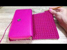D.I.Y. Crochet Wallet Shortcut Idea   คลิปสั้น D.I.Y ถักเป๋าตังค์ทรงยาว - YouTube Diy Crochet Wallet, Crochet Clutch Bags, Free Crochet Bag, Crochet Handbags, Crochet Purses, Love Crochet, Coin Purse Pattern, Wallet Pattern, Purse Patterns