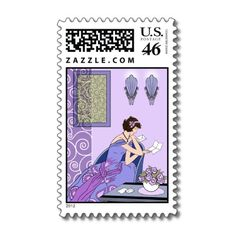 Clarice's Letter - Art Deco Fashion Design Stamp