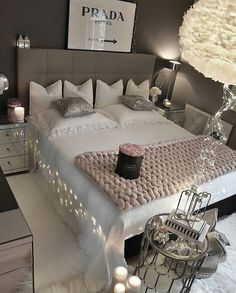 Romantic Bedroom Design Ideas For Young Couple. Romantic Bedroom Design Ideas Co… Romantic Bedroom Design Ideas For Young Couple. Romantic Bedroom Colors, Romantic Bedroom Lighting, Beautiful Bedrooms, Romantic Bedrooms, Dream Rooms, Dream Bedroom, Girls Bedroom, Bedroom Furniture, Bedroom Decor