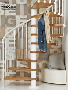 Chic Showcase: Spiral Staircases for Maximum Impact - Love Chic Living Small Apartment Bedrooms, Apartment Chic, Apartment Layout, Diy Apartment Decor, Apartment Interior Design, Apartment Ideas, Spiral Stairs Design, Staircase Design, Modern Staircase