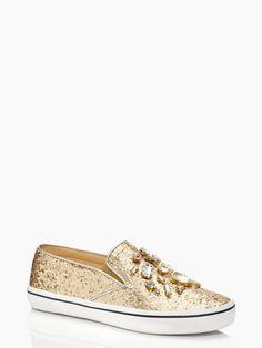 We SO need these glitter @katespadeny sneakers!
