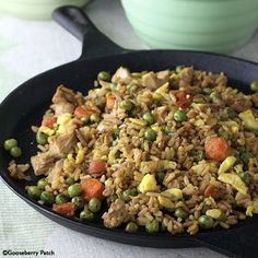6 Cast Iron Skillet Recipes: Skillet Chicken-Fried Rice - Gooseberry Patch