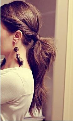 Ponytail with a twist! #hair #ponytail