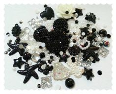Big Sparkle Minnie mouse Diy decoden kit.  Black and white mix £3.99