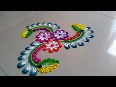 Very easy and beautiful attractive rangoli design by Jyoti Raut Rangoli Rangoli Designs Flower, Colorful Rangoli Designs, Rangoli Ideas, Rangoli Designs Diwali, Rangoli Designs Images, Diwali Rangoli, Flower Rangoli, Beautiful Rangoli Designs, Flower Designs