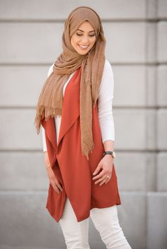 Premium Cotton Crinkle Hijab - Iced Coffee
