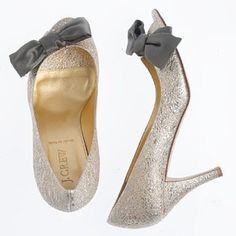 Women shoes Lulu metallic-leather peep toes. J.Crew.