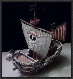 "This papercraft is the Going Merry, based on the anime / manga series ""The One Piece"", the ship paper model is designed by ninjatoes. The Going Merry was t"