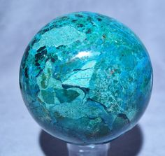 Chrysocolla with Malachite 4 inch 4 lb Natural Crystal Sphere - Peru