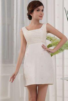 Sheath Bateau Neck Mini Length Beaded Bodice Short Satin Homecoming Gowns