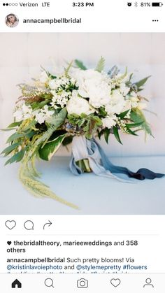 LOVE this bouquet - different color silk ribbon though