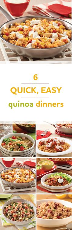 How to cook 6 quick, easy quinoa dinner recipes | 30 minutes or less, 7 ingredients or less!