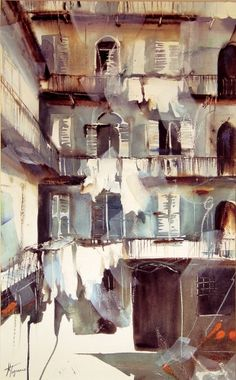 Old Milan #watercolor jd