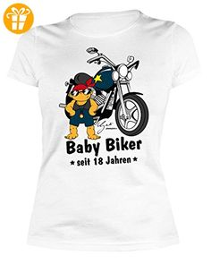 Comic-Geburtstags/Jahrgangsshirt/Spaßshirt Damen/Girlie: Baby Biker seit 18 Jahren geniales Geschenk (*Partner-Link)