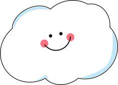 Happy Cloud Clip Art - Happy Cloud Image