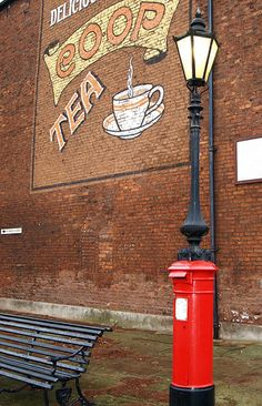 Rochdale post box with its own light - England, GB