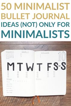 Discover minimalist bullet journal ideas for your monthly and weekly spread, collections, and other important pages