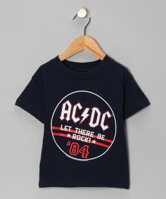 Take a look at this Blue 'AC/DC Let There Be Rock '84' Tee - Toddler & Kids by With the Band: Kids' Apparel on #zulily today!