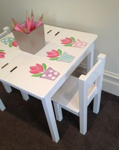 Desk And Chair Set Tulip Table And Chair Set Childrenu0027