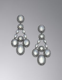 David Yurman Moonlight Quartz Chandelier Earrings Rare Gemstones Precious Metals