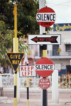 Signposts, Jamaica, February 1967 (Patrick Litchfield)
