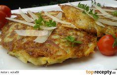 Bramborák plněný Hermelínem a slaninou Cauliflower, Tacos, Meat, Chicken, Baking, Vegetables, Ethnic Recipes, Dinner Ideas, Cook