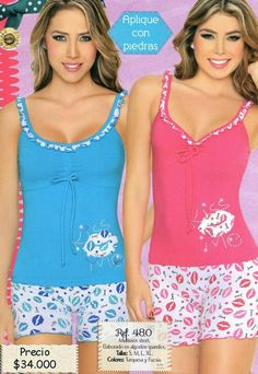 Girls Summer Outfits, Girl Outfits, Cute Outfits, Sexy Pajamas, Cute Pajamas, Cute Sleepwear, Lingerie Sleepwear, Pijamas Women, Cute Pajama Sets