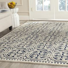 Safavieh Handmade Moroccan Cambridge Navy Blue Wool Rug - 14967220 - Overstock.com Shopping - Great Deals on Safavieh 5x8 - 6x9 Rugs